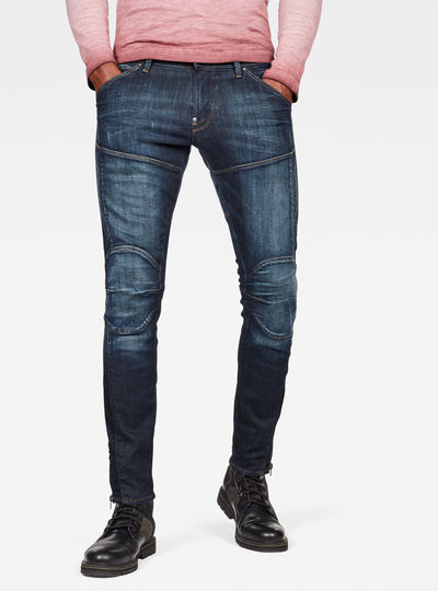 5620 3D Ankle Zip Skinny Jeans