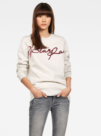 Graphic 4 Boyfriend Pullover