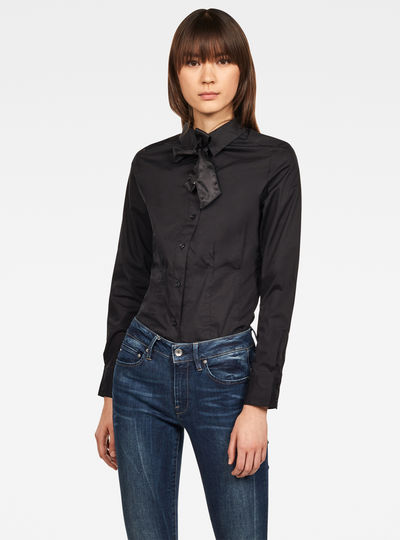 Syenite Slim Bow Shirt