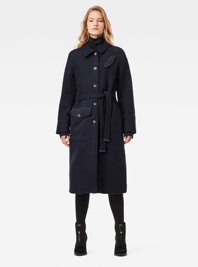Manteau Belted Field Padded