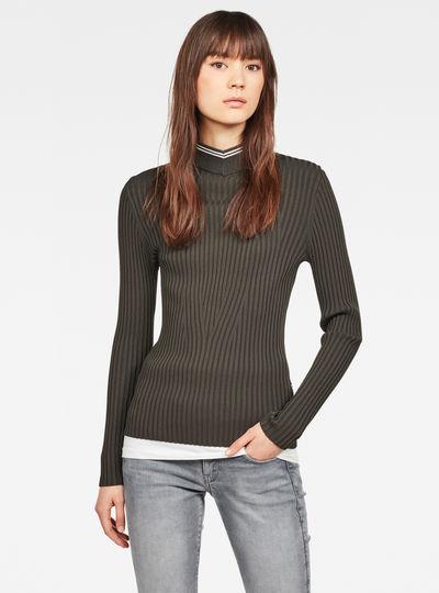 Lynn Mock Turtleneck Knitted Sweater