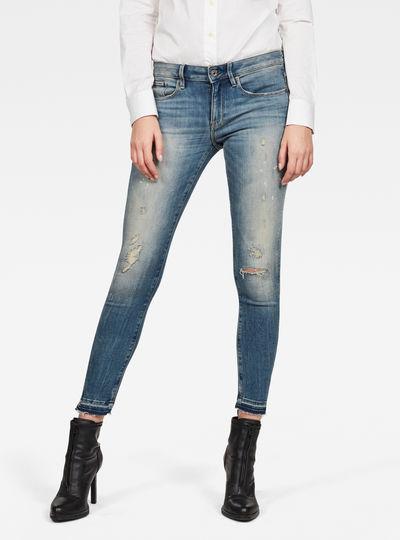 Jeans 3301 Mid Skinny Repair Ankle