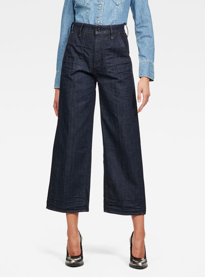 Eyevi High Wide Leg Ankle Jeans