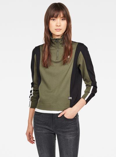 Nostelle Fyx Biker Half Zip Sweatshirt