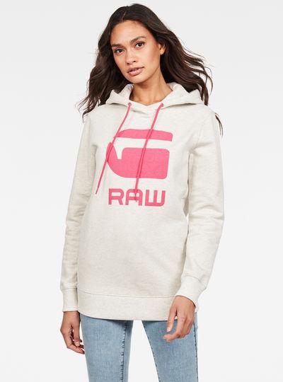 Boyfriend Diamond Line Graphic Hooded Sweater