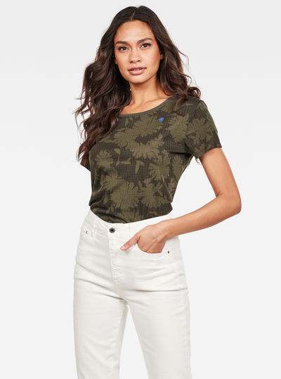 Allover Flower Print Top