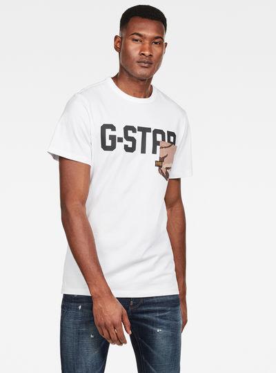 Gsraw Allover Pocket T-Shirt