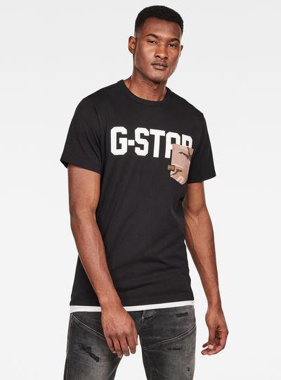 Camiseta Gsraw Allover Pocket