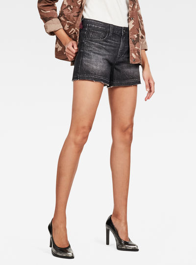 3301 High Boyfriend Ripped Edge Shorts