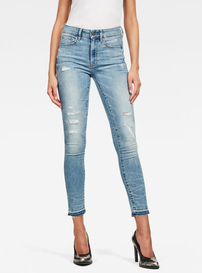 Jeans 3301 High Skinny Ripped Edge Ankle