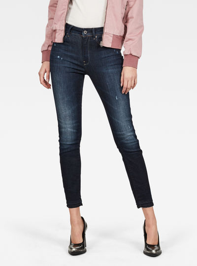 3301 High Skinny Ripped Edge Ankle Jeans