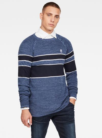Raglan Block Stripe Knitted Pullover