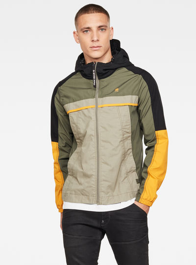Colourblock Hooded Jacke