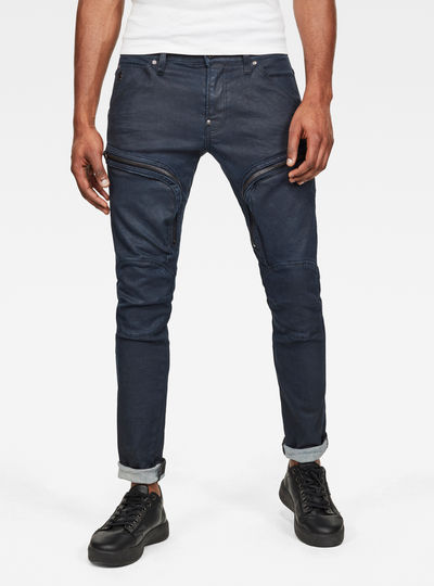 Air Defence Zip Skinny Colored Jeans