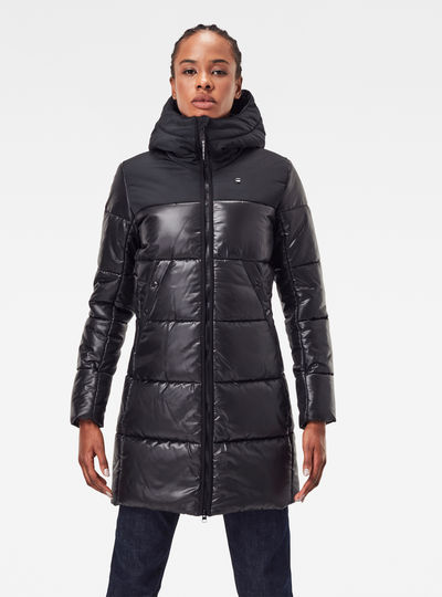 Quilted Puffer Long Coat