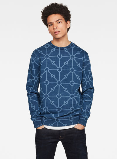 Gradient Indigo Sweater