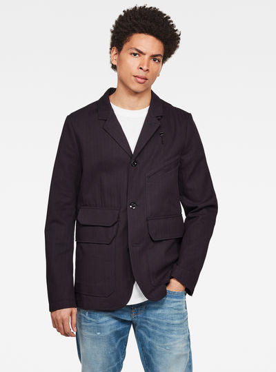 Utility 4 Button Blazer