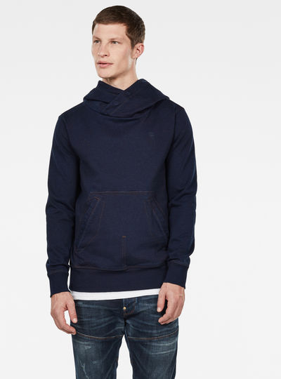 Aero Patched On Pocket Hooded Sweater