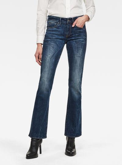 3301 Mid Waist Bootleg Jeans