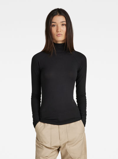 Lecite Optic Slim Turtleneck Top