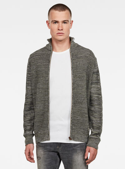 Zip Through Knitted Cardigan