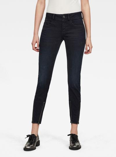 Lynn 2-Zip Mid Skinny Ankle Jeans