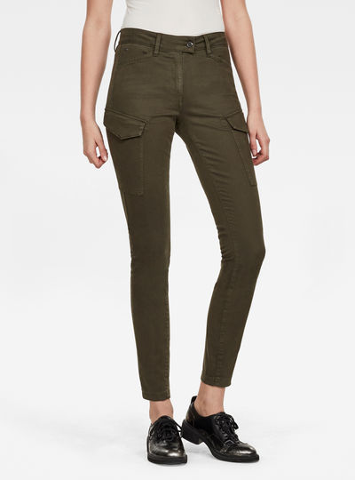 Blossite G-Shape Army High Skinny Pant