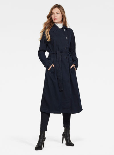 Denim Loose Trench