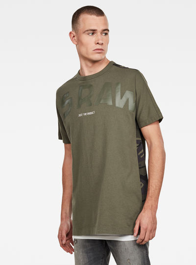 Gsraw Back Camo Allover GR T-Shirt