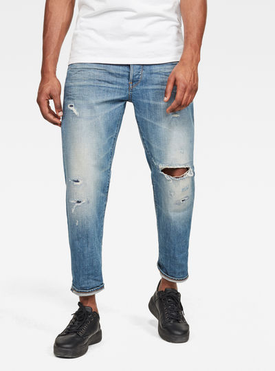 Men Fashion Plus Size Straight Jeans Male Distressed Denim Pants Biker Jeans Ro Designer Bin Jeans 29 Light blue