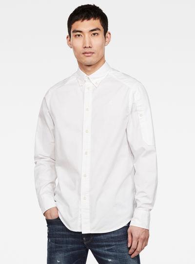 Stalt sleeve pkt straight shirt l\s