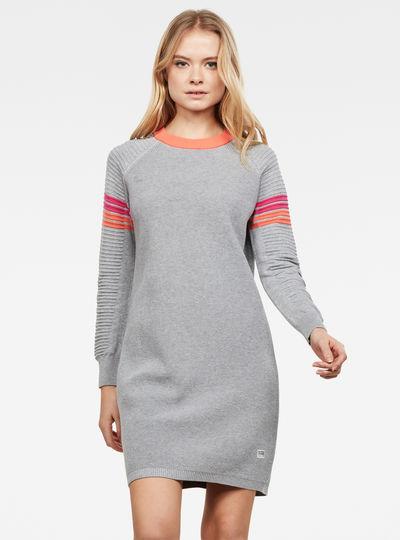 Suzaki stripe r knit dress l\s