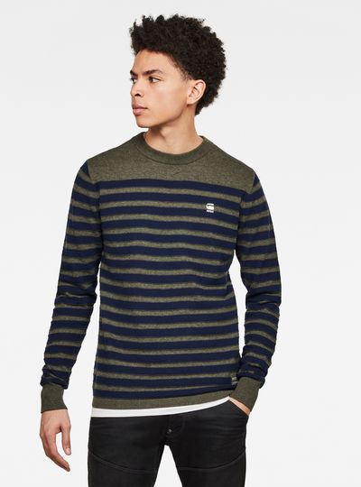Stripe Crew Neck Knitted Sweater