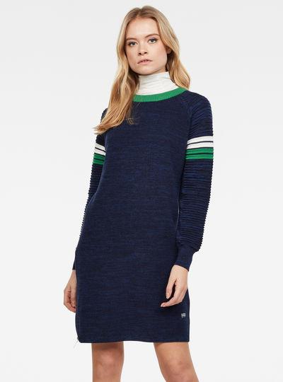 Suzaki Stripe Knit Kleid