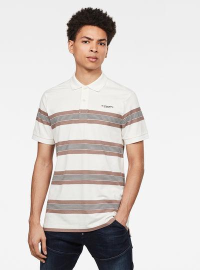 Stainlo Stripe Allover Poloshirt