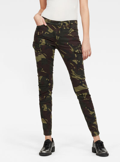 Blossite G-Shape Army High Skinny Pants