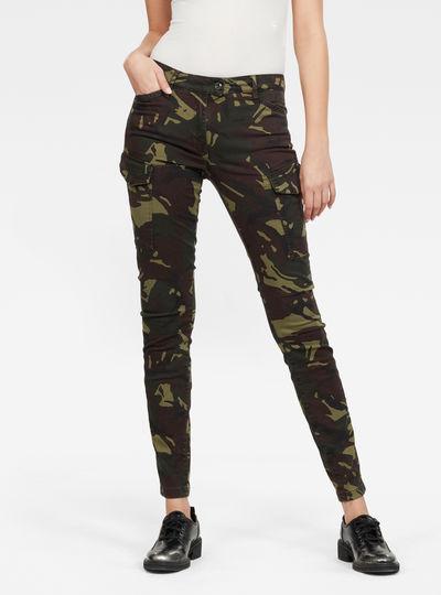 Pantalones Blossite G-Shape Army High Skinny