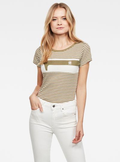 Litmic Yarn Dyed Stripe GR One Slim Top