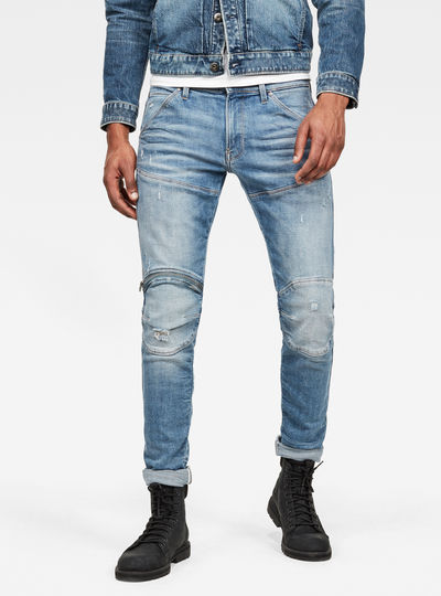 5620 3D Zip Knee Skinny Jeans