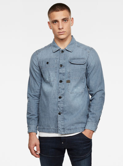 Multipocket Straight Shirt