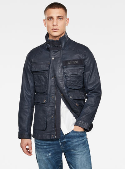 Multipocket Denim Field Jacket