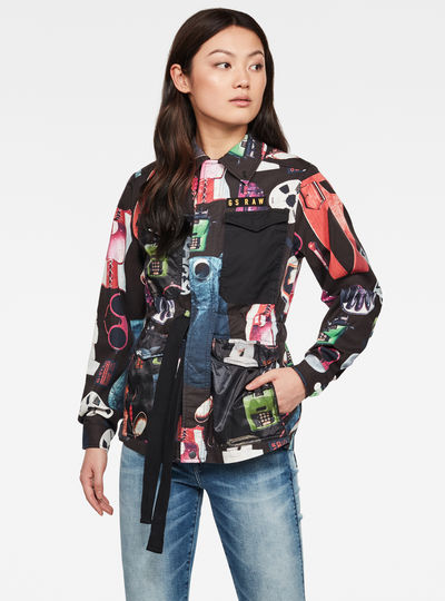 Rovic Field Jacket Allover Printed