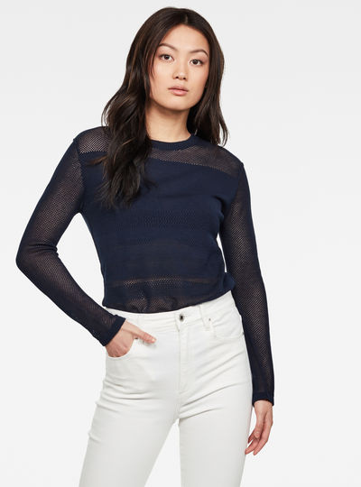 Inqar Mesh Knitted Top