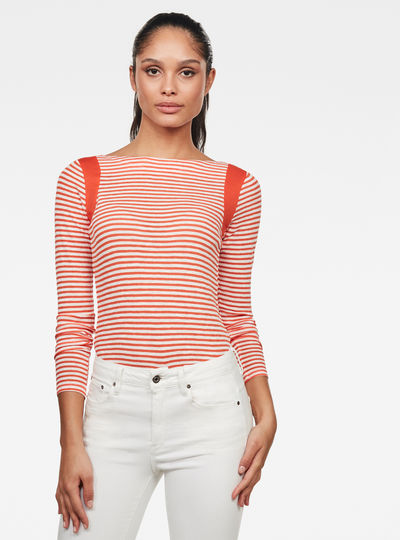 Zovas Yarn Dyed Stripe Slim Top