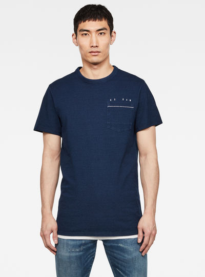 Indigo RAW Embro GR Pocket T-Shirt