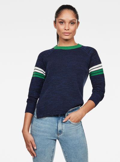 Suzaki Stripe Knitted Sweater