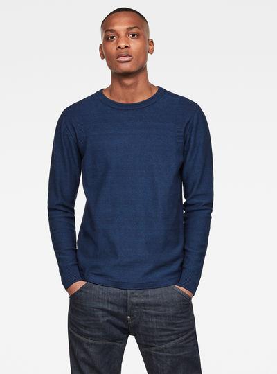 Indigo R Straight Knit Sweater