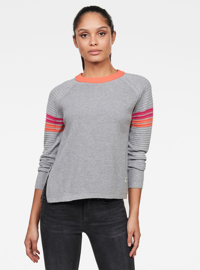 Suzaki Stripe Knitted Sweater