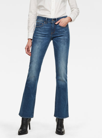 3301 Mid Wasit Bootleg Jeans