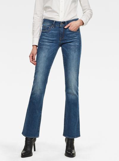 3301 Mid Wasit Bootleg Jeans